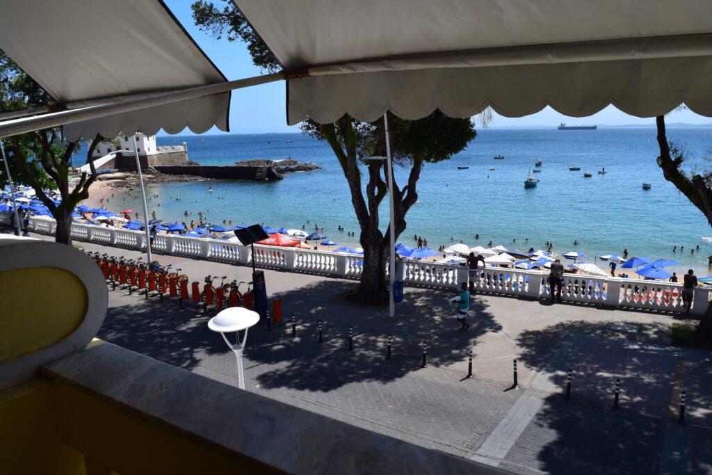 Balcony view overlooking the beach, 1st floor.